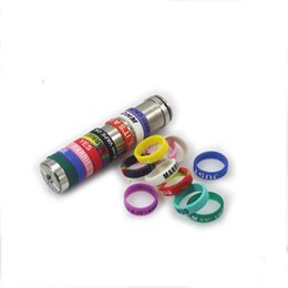 Wholesale silicon band vape bands for mechanical mods christmas gift colorful colors electronic cigarette accessories silicon vape band