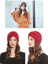 Wholesale Fashion Turban Head Wrap Band Women Hat cotton Cap Chemo Bandana Many Colours Unisex can Mix