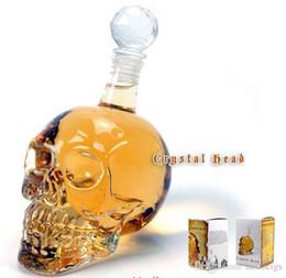 Wholesale Creative Cup ml Crystal Skulls Vodka Bottles Shot Glass Beer Bottle Drink Ware Home Bar Party