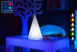 1 piece Remote control colorful modern minimalist LED pyramid light of decoration led night lamp for Christmas gifts