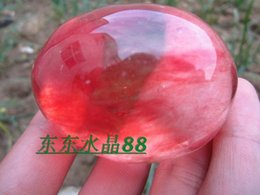Wholesale Natural red crystal nunatak egg decoration amethyst stone g g