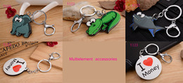 2016 Various Animals Silicon Swivel Lobster Clasp Keys Keychain Case Shell Novelty Item Key Accessories Car Keychain Ring