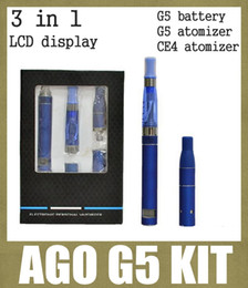 Wholesale electronic cigarette starter kit ago g5 kit with ago g5 vaporizer mah g5 battery ce4 atomizer with lcd display e liquid flavour TZ020
