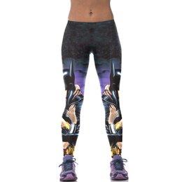 Wholesale Foreign hot D printed Leggings Tights comfort Batman slim slim breathable hip pants