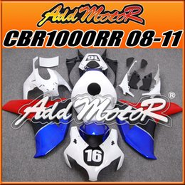 Wholesale Addmotor Injection Mold Aftermarket Fairings Fit Honda CBR1000RR CBR RR Body Kit No Blue Red H1866 Five Free Gifts