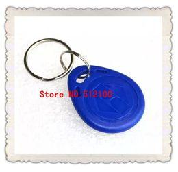 100PCS EM4100 125K RFID Access ID Card Key Chain Keyfob Tag Read Only