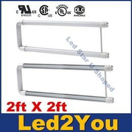 Descuento cree llevó la garantía T8 LED 2ft U Tubos Luces 22W Económica U Forma Tubo de Curvatura Luz 2ft X 2ft AC 110-240V Garantía 3 Años