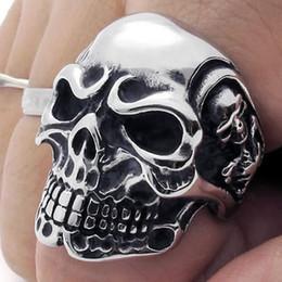 Vintage Gothic Skull Biker Stainless Steel Men's Ring