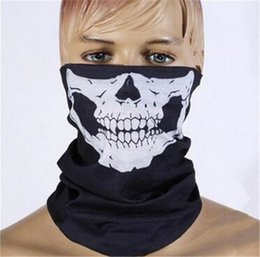1000pcs FASHION hot SALE Skull Multi Function Bandana Ski Sport Motorcycle Biker Biker scarf Face Masks cycling mask D530