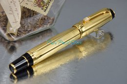 Wholesale PURE PEARL MB BOHEME Series High Quality Best Design Golden Wave Cover and Clip Roller Ball Pen
