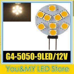 G4 9 5050 SMD LED Marine Camper Car Bulb Lamp 12V 3W Warm White Light High Intensity spotlight Free DHL