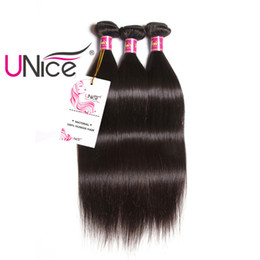 UNice Hair Brazilian Straight Bundles 100% Human Hair Weaving 1Piece 8-30inch Non Remy Natural Color Hair Extension