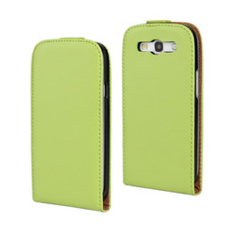For Samsung Galaxy S4 i9500 Texture Genuine Flip Leather Case Cover