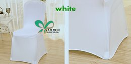 Wholesale White Color Poly Spandex Chair Cover Wedding Lycra Covers