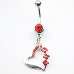 D0128 ( 4 colors ) The heart styles 047-01 Belly Button Navel Rings with mix colors piercing body jewelry navel belly ring