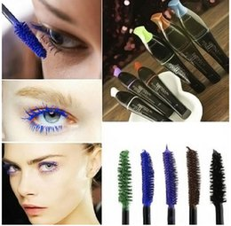 Wholesale Big discount Waterproof Color Mascara Longlasting Colorful Eyelashes Makeup Mascara free DHL