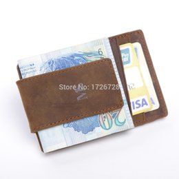 Wholesale 12Pcs New men s Genuine leather material purse credit card holder wallet ID card holder travel case business card holder money clip
