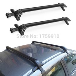 Wholesale High Capacity Roof Racks Universal Anti Theft Car Roof Bars lockable Bars For Cars Without RAILS Rack NEW order lt no track