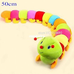 Wholesale 50cm Baby Colorful Caterpillars Toy Child Millennium Bug Doll Plush Toys Large Caterpillar Hold Pillow Doll Toys for Children