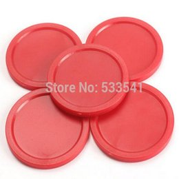 Wholesale 8pcs mm Red Air HockeyTable Pucks Puck Mallet Goalies Children Table