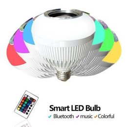 Wholesale Wireless Bluetooth Smart LED Lightbulb Music Audio Remote Speaker E27 OR BAYONET