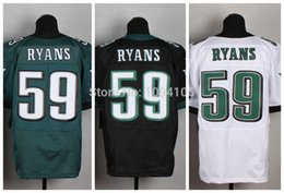 Wholesale Factory Outlet New DeMeco Ryans Black Green White Elite Jersey New Authentic Stitched Elite Football Jerseys Top Quality Mix Order