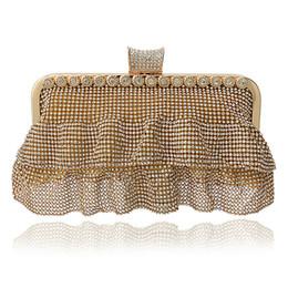 Wholesale-Dress Shaped Full Rhinestones Evening Bags Clutch Purse Handbags Silver Black Gold Evening Bag Wedding Tote