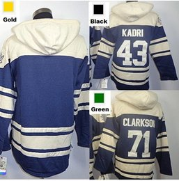 2016 New, New Old Time Toronto Hockey Jerseys Maple Leafs 43 Nazem Kadri 71 David Clarkson Blue Fleece Hoodie Jerseys Embroidery Logo