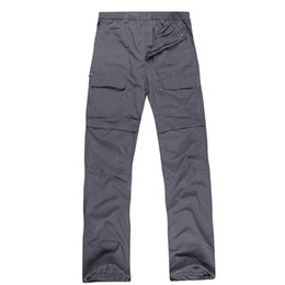 Wholesale autumn and summer men s outdoor waterproof breathable quick drying pants UV hiking camping pants detachable two parts