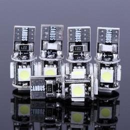 Wholesale T10 Canbus W5W SMD LED Error Free White Light Bulbs SMD T10 LED SMD Wedge Base No error LED Auto Light T10 W5W