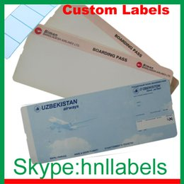 Wholesale Thermal Boarding Pass for Airlines Airports Boarding Tickets Boarding Cards Direct Thermal Size of mm mm