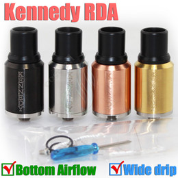 Mejor rba en Línea-Best Kennedy RDA Mods Atomizador Dual Direct Bottom Agujero de aire Big Dripper e cig vs Lethal Doge Mutación x v2 v3 Gauntlet BAAL Freakshow RBA DHL