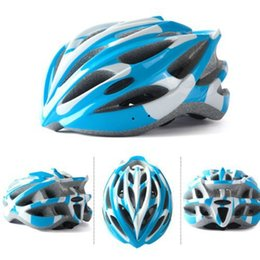 Wholesale-New Bicycle Helmets BMX Adult Bike Helmet Cycling Hats With Visor 30 Channeled Vents Bike Blue
