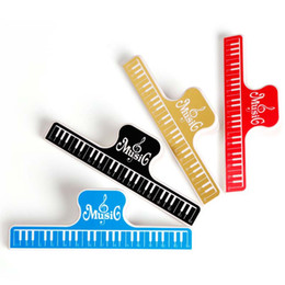 Music Book Clip 4 pcs Acrylic Musical Notes Style Book Page Holder L Size-4 Color Assorted