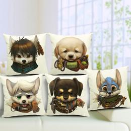 Wholesale Cute Sofa Set - Cute Puppy Sofa Cushion Covers 45X45cm Guide Dog Lovers linen cotton Pillow Cases Throw Pillows Covers for sofa car office set decor