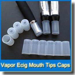 Disposable E Hookah LED CE4 CE5 510 Clear Ego Atomizer Test Tips Rubber Vapor Ecig Mouth Tips Clearomizer Caps 600Pcs