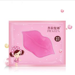 Wholesale PILATEN Skin Face Care Crystal Collagen Lip Mask lip care pads Moisture Essence Anti ageing wrinkle gel care hydrating BY DHL