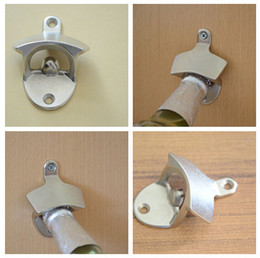 Wholesale NEW hot Retro Wall Mounted Bottle Beer Coke Cap Metal Fixed Opener Bar Kitchen Craft Bottle Can Openers