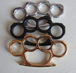 GILDED THICK STEEL BRASS KNUCKLE DUSTER