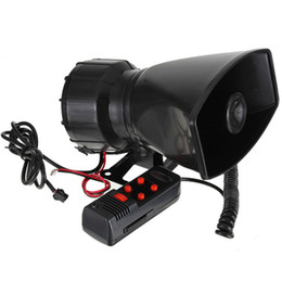 Wholesale 2016 New V Loud Horn Siren For Car Speaker Sounds Tone PA System W Motorcycle Auto Vehicle Truck Max db