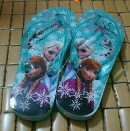 8%off!Latest styles!Fashion!Cartoon!Children herringbone slippers! Beach shoes!28-34 yards!FROZEN ANNA ELSA!DROP SHIPPING!5pairs 10pcs.LY