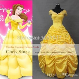 Wholesale Beauty And The Beast La Belle et la Bete Belle Dress Cosplay Costumes Halloween Party Cosplay Dresses