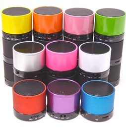 Wholesale Portable Bluetooth Speaker Mini Speakers with MP3 Music Player Support TF Card Free shipping Good Gift S1134