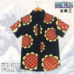 Wholesale Anime One Piece Monkey D Luffy Corrida Colosseum Cosplay Costumes Sunflower Unsiex Shirt Women Men Casual Tops Shirt Halloween Clothing Wear