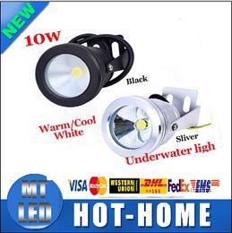 Wholesale x10 VIA DHL Aluminum Led lights LED Underwater Light LED W V Aquarium Fountain Pool Lamp light IP68 Waterproof Warm cool white lights