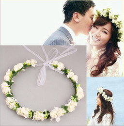 Fashion 2015 Hot Wedding Bridal Girl Head Flower Crown Colorful Rattan Garland Hawaii Flower Head Wreath Hair Accessories