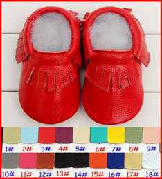 50Pair fedex dhl ems ship girls boys fringe moccs baby fringe moccasins soft cow leather moccs baby walking booties toddler shoes 0-2years