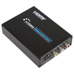2017 convertisseurs vidéo Portable HDMI 720P / 1080P AV Composite / S-Video Converter HMP_572 promotion convertisseurs vidéo