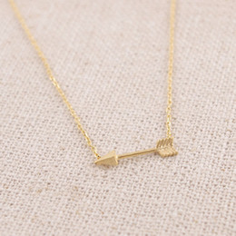 2016 fashion exquisite design gold-plated silver plating rose gold arrow women wholesale free shipping in the hot girl pendant necklace