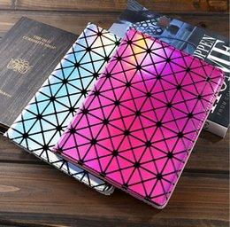 Acheter en ligne Air en cuir libre-HOT IPad mini4 PU cuir flip cas Smart Cover pour iPad nouveau mini-ipad 2/3/4 ipad Air ipad6 Laser diamant Fashion smart cover free shipping